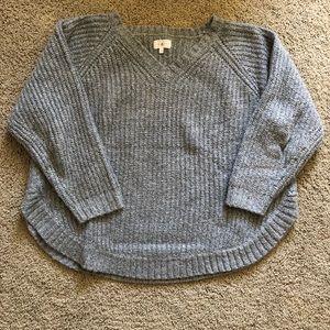 Lou & Grey Curved Hem Sweater, Size Medium
